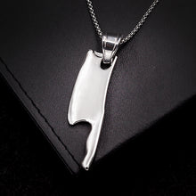 Cleaver Chef Necklace, Steel ou 18kt Gold Plated - Splendor Chic