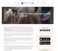 Beautician - How to Stop Hair Damage This Summer