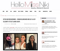 Hello Miss Niki - NYFW Hair Breakdowns - Rowan Blanchard and Aly & AJ by Celebrity Stylist Laurie Heaps