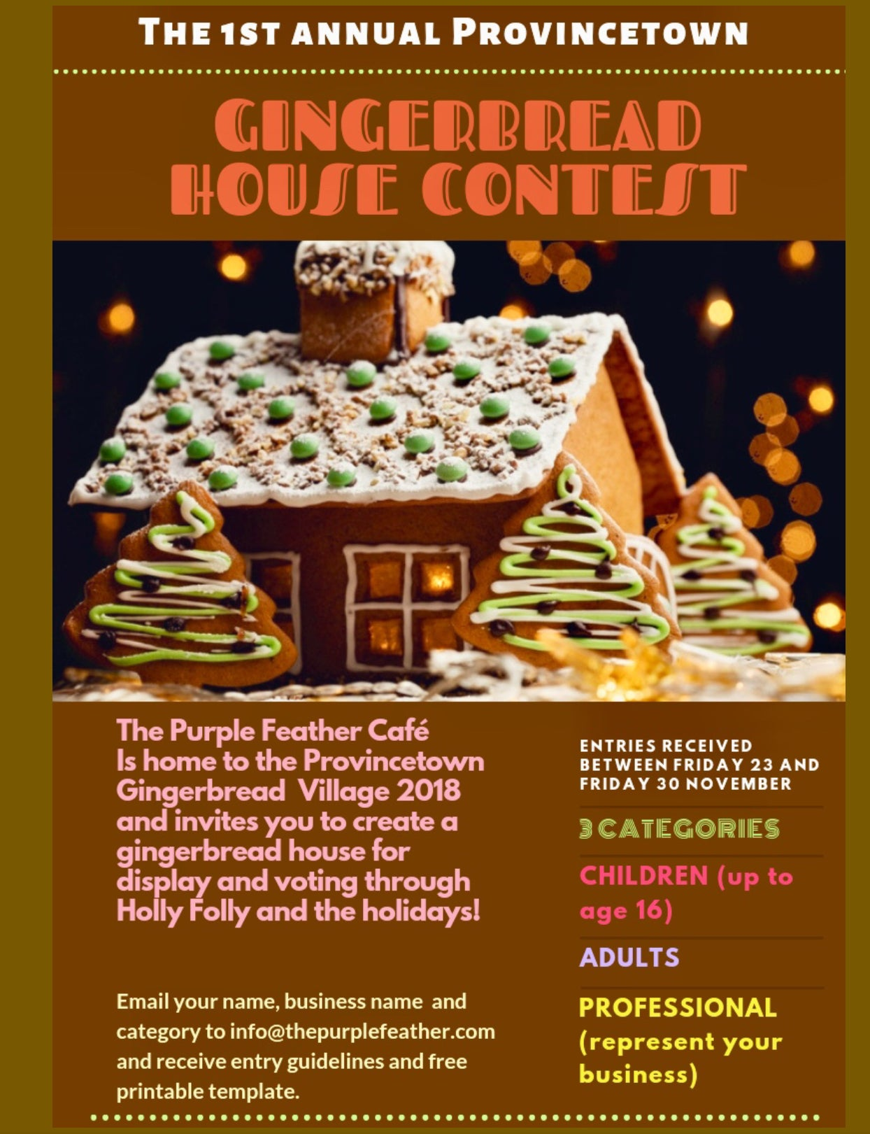 Purple Feathers First Annual Gingerbread House Contest The Purple