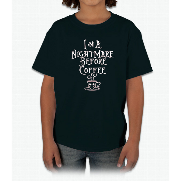I'm a nightmare before coffee T-shirt Youth Ultra Cotton