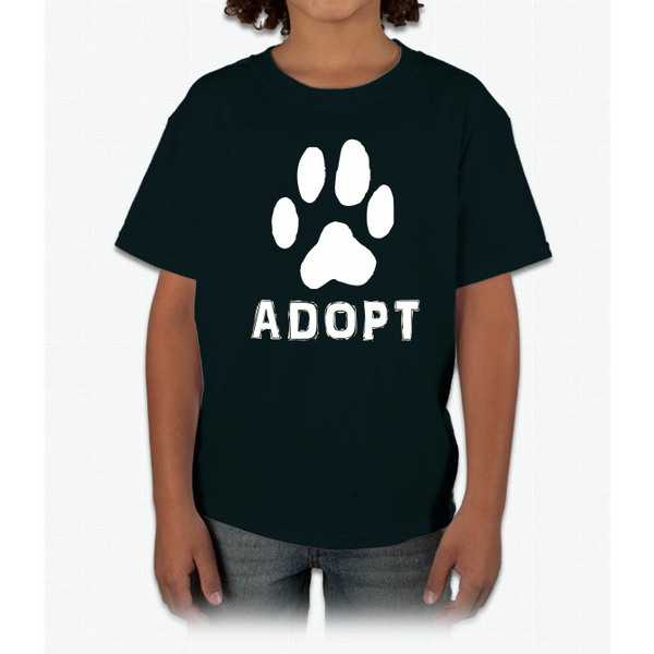 """Adopt"" A Dog Pet Adoption or Rescue T-shirt (Dogs love it ) Youth Ultra Cotton"