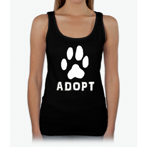 """Adopt"" A Dog Pet Adoption or Rescue T-shirt (Dogs love it ) Womens Tank Top"