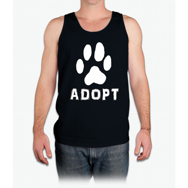 """Adopt"" A Dog Pet Adoption or Rescue T-shirt (Dogs love it ) Mens Tank Top"