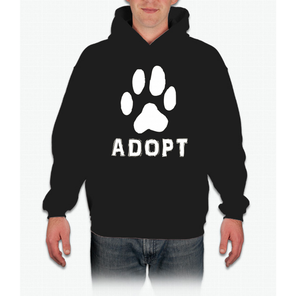 """Adopt"" A Dog Pet Adoption or Rescue T-shirt (Dogs love it ) Pullover Hoodie"