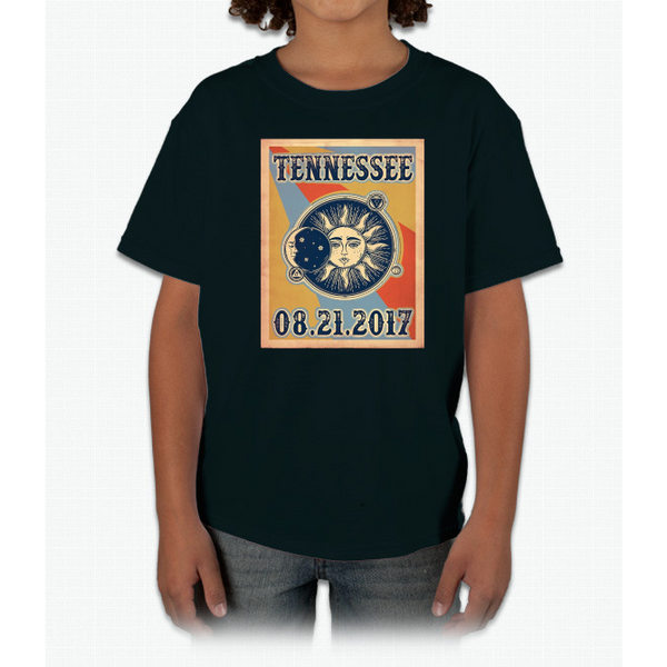 Vintage Tennessee Total Solar Eclipse 2017 Tshirt Youth Ultra Cotton