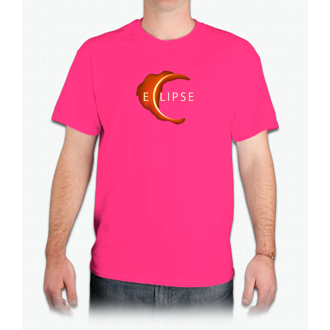 August 2017 Solar Eclipse Tee - Red Sun Total Eclipse Shirt Custom Ultra Cotton