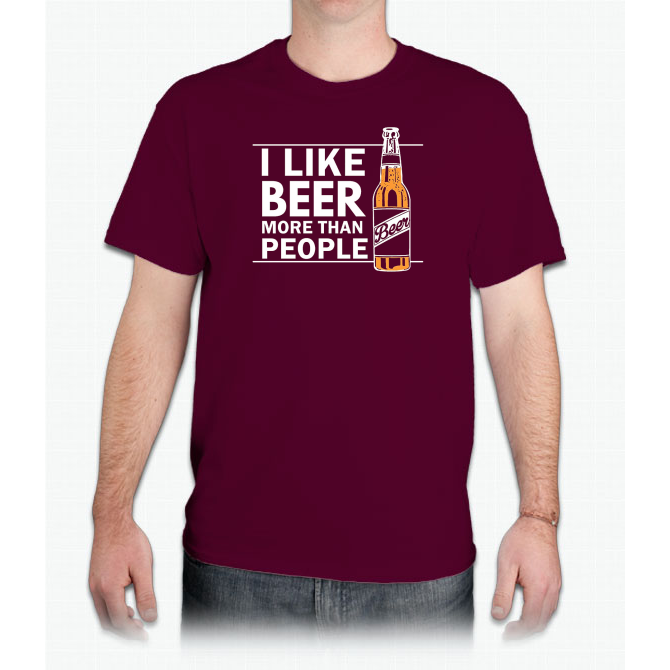 Antisocial Beer Drinker Shirt Funny Drinking Brew Gift Custom Ultra Cotton