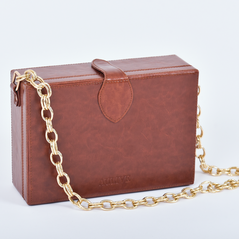 Noah Box Bag - Sienna Brown