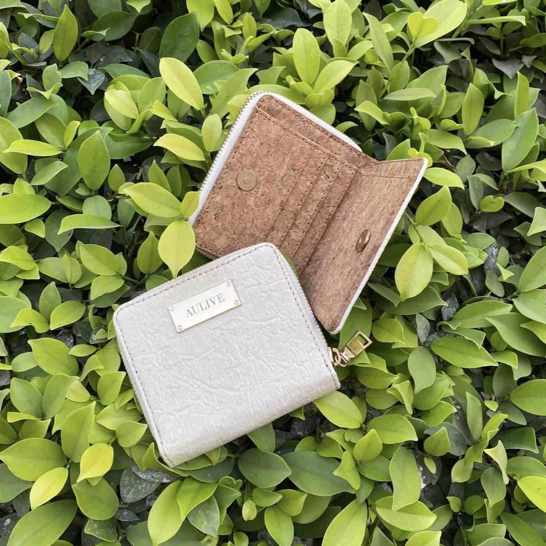 June Piña Wallet with Cork Lining