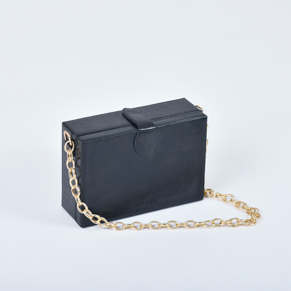 Noah Box Bag - Noir Black