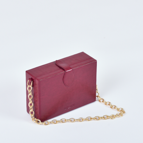 Noah Box Bag - Cabernet Red