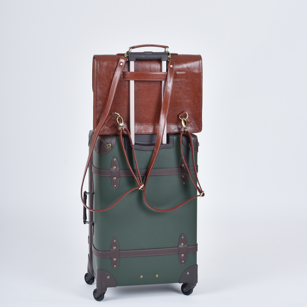 The Boston Two-in-One Laptop Bag - Tan