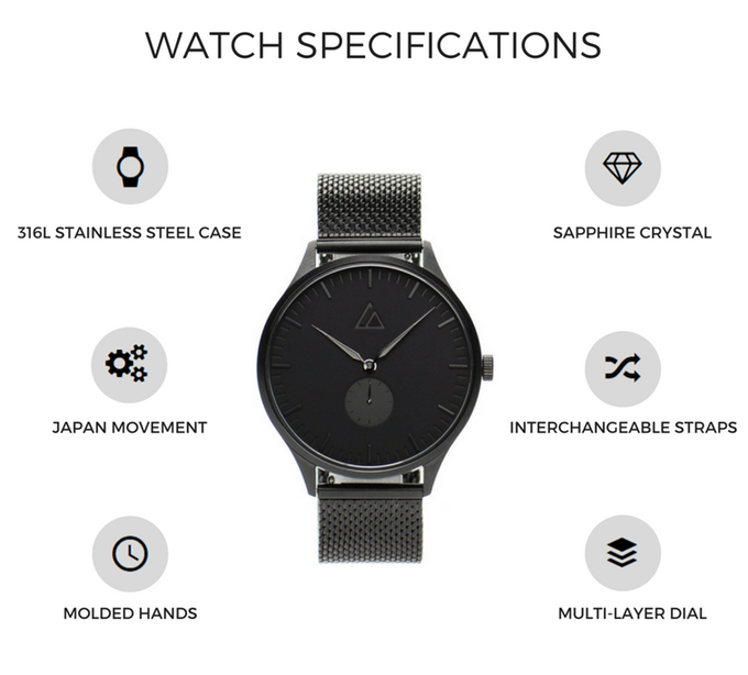 Catalyst Watches Specification Overview