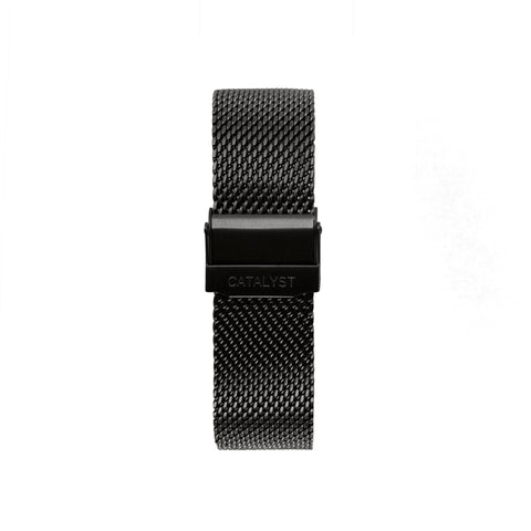 Matte Black Leather Strap