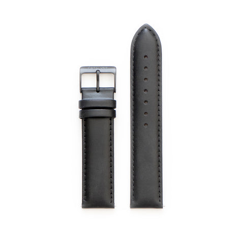 Glossy Black Leather Strap
