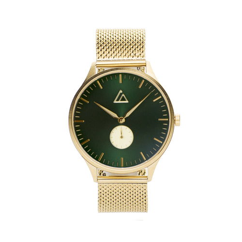 Gold-Emerald with Gold Mesh