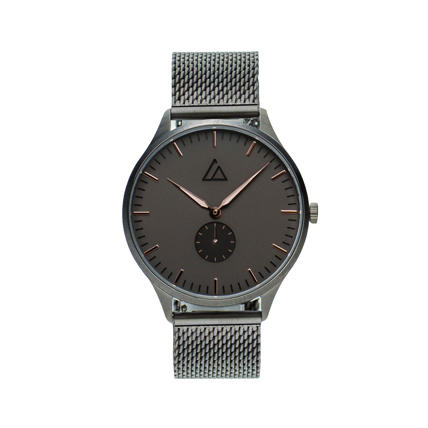 Gun-Rose Gold with Gunmetal Mesh