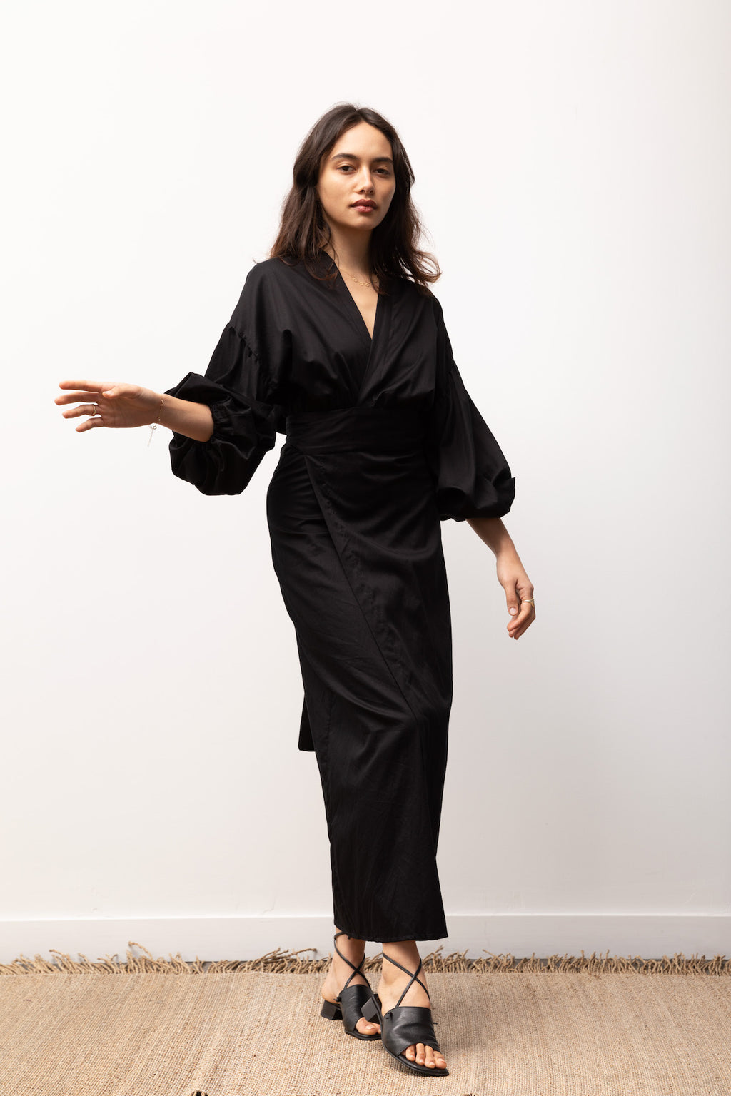 Isabel Wrap Dress / Black
