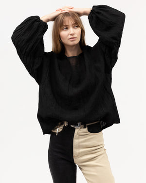 Load image into Gallery viewer, Arabella Blouse - Black Linen