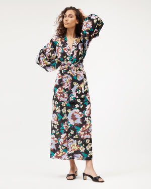 Isabel Wrap Dress / Floral Splash