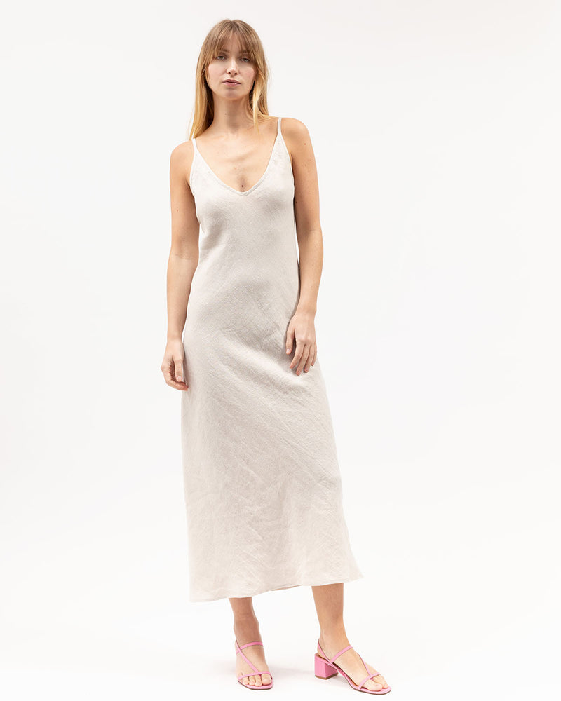 Load image into Gallery viewer, Midi Bias Dress / Sand