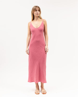 Midi Bias Dress / Dark Rose