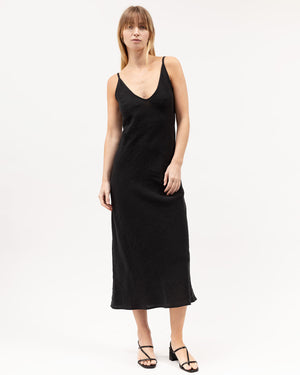 Load image into Gallery viewer, Midi Bias Dress / Black