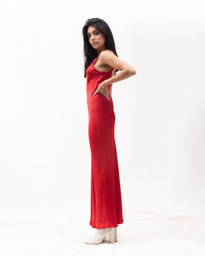 Tara Bias Slipdress / Red
