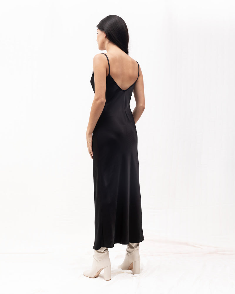 Tara Bias Slipdress / Black
