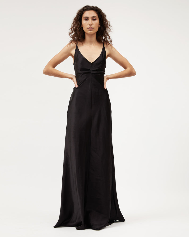 Load image into Gallery viewer, Sloane 2.0 Dress / Black Satin