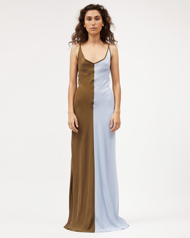 Load image into Gallery viewer, Sloane Dress / Powder and Bronze