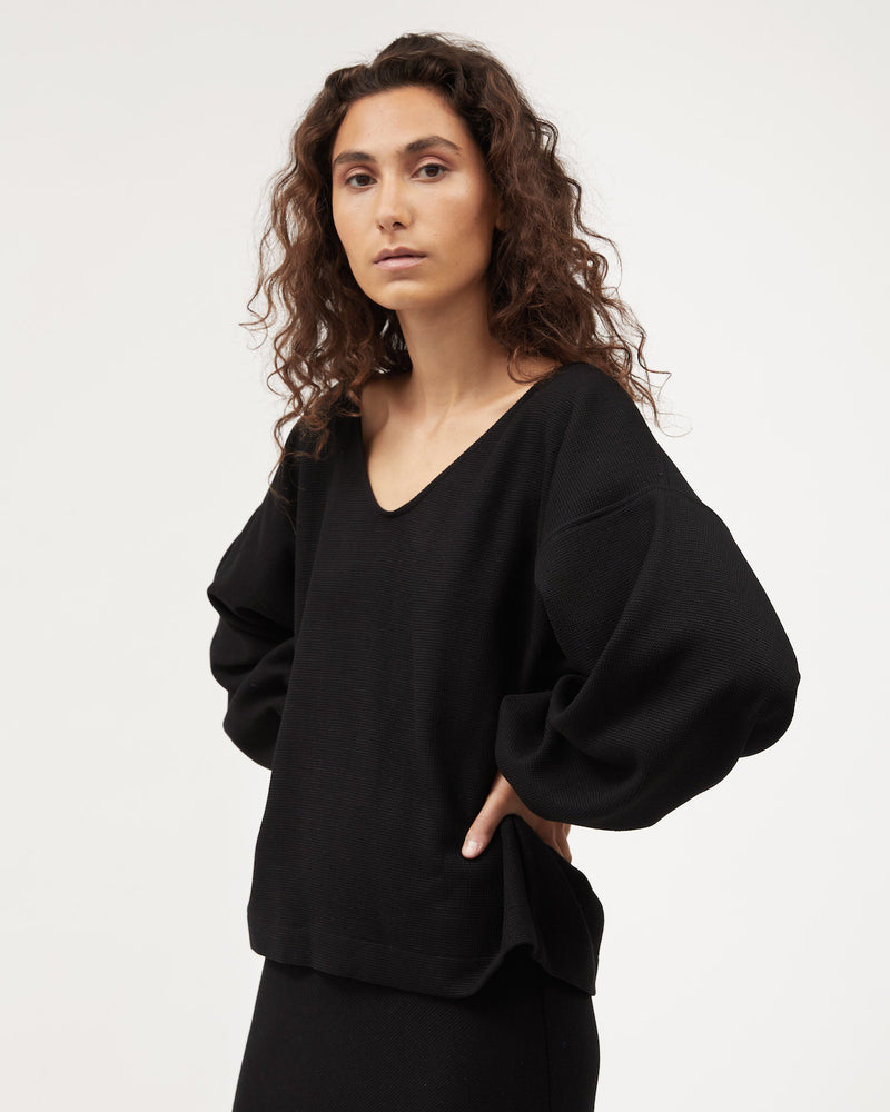 Load image into Gallery viewer, Minka Jumper / Black Waffle