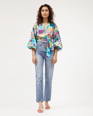 Load image into Gallery viewer, Isabel Wrap Top / Miami Print