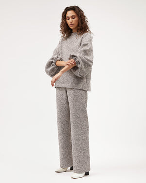 Gloria Pant / Grey Pink Tweed