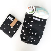 Baby Changer Combo - Black with White printed design