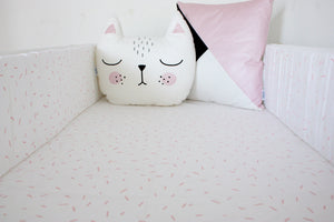 Cot Duvet Set - White - Sprinkles Design