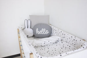 Cot Duvet Set - White - Blizzard Dots Design