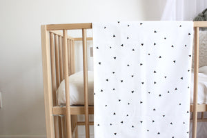 Cot Duvet Set - White - Triangles Design