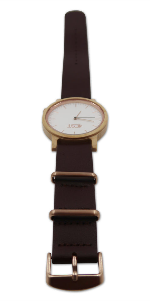 Real Wood & leather Watch - Hazel
