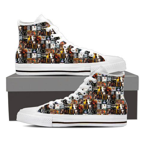 2Pac Gridlock'd Ladies High Top Canvas D