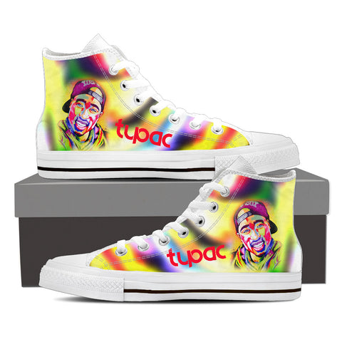 2Pac Gridlock'd Ladies High Top Canvas B