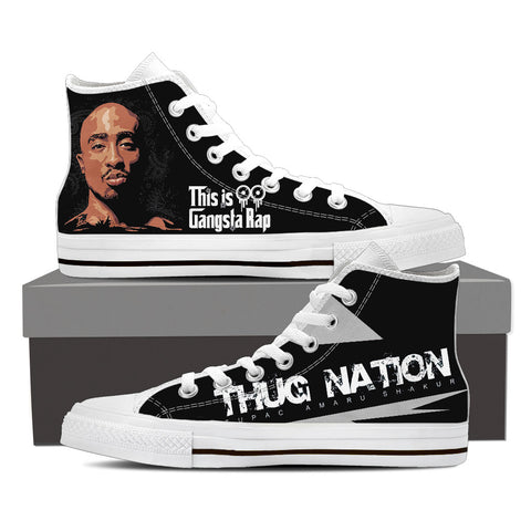 2Pac Don Killuminati Men High Top Canvas L