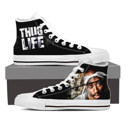 2Pac Don Killuminati Men High Top Canvas J