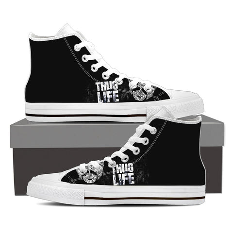 2Pac Don Killuminati Men High Top Canvas C