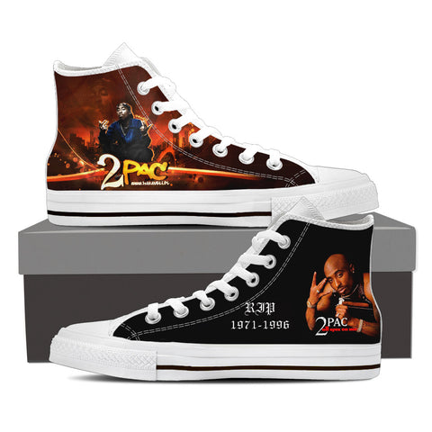 2Pac Don Killuminati Men High Top Canvas K