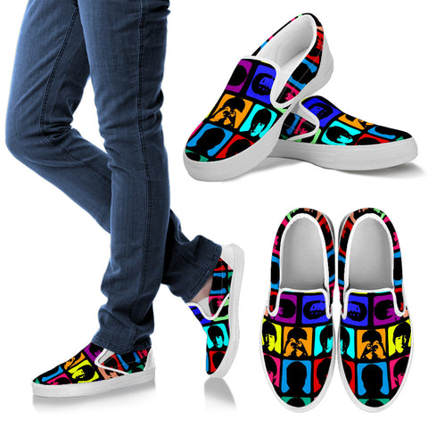 #3 Beatles Multicolored Slip Ons