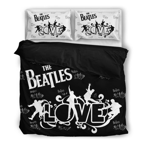 The Beatles Duvet Cover Set Black