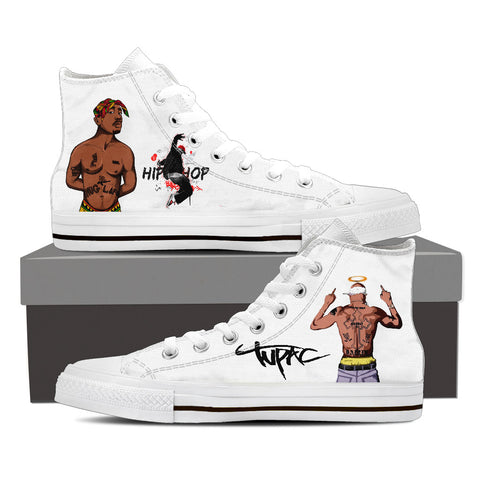2Pac Gridlock'd Ladies High Top Canvas F
