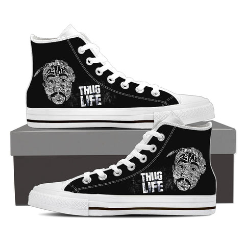 2Pac Gridlock'd Ladies High Top Canvas C